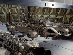 "Eagle Transporter--the workhorse spacecraft from Space 1999. (Some of the special effects guys who worked on this show went on to work on the ""Aliens"" and ""Star Wars"" movies, among others.)"