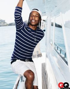 ASAP Rocky For GQ May 2013, Rapper Poses For Nautical Themed Fashion Feature (PHOTOS)