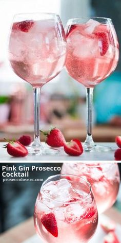 This recipe for pink gin prosecco cocktails will get the party started! Click to see the recipe. #Prosecco #Proseccococktails #Proseccodrinks #Proseccotime #Drinks #Cocktails #CocktailHour #CocktailOfTheDay #Craftcocktails #Proseccolovers #Winelovers #Masterofmixes #Barista #Champagnelover #DeliciousDrinks #Wine #Wineoclock #Mixology