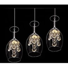 Crystal LED Mini Pendant Three Light – USD $ 113.99