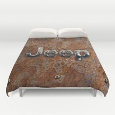 Rustic Jeep DUVET COVER #duvetcover #cover #rustic #jeep #steampunk #logo #typograph #wrangler #landrover #car #abstract #volkswagen #vehicle #autocar #suv #offroad #rangerover #4x4
