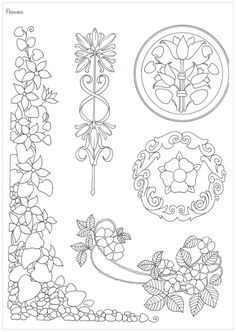 Embroidery Art Nouveau Coloring Pages 37 Ideas Fleurs Art Nouveau, Motifs Art Nouveau, Design Art Nouveau, Art Nouveau Pattern, Embroidery Art, Embroidery Designs, Tattoo Painting, Nouveau Tattoo, Jugendstil Design