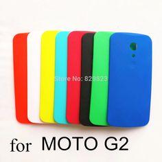 Barato Capa, para Moto G2 G 2 XT1063 XT1068 XT1069 bateria habitação back door caso escudo protetor, Compro Qualidade Capas para Telefones Celulares diretamente de fornecedores da China:  8 cores, preto, branco, azul, azul claro, rosa, verde, laranja, amarelo