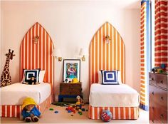 In Good Taste: Anne Hepfer Design Children's bedrooms are always so much fun! Apartment Therapy, Kid Spaces, Play Spaces, Kids Decor, Baby Decor, Boy Room, Child's Room, Kids Bedroom, Kids Rooms