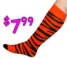 tiger socks  color run socks