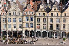 The Heroes square in Arras, France (Pas-de-Calais)