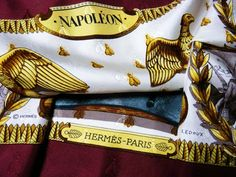 Authentic Vintage Hermes Silk Jacquard Scarf Napoleon by Philippe Ledo – Carre de Paris
