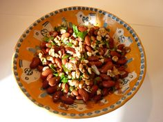 Bean Salad with Walnuts and Cilantro