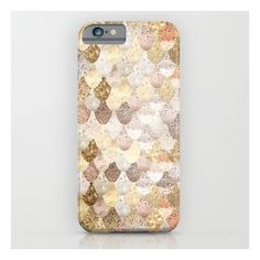 Mermaid Gold iPhone 6s Case (110 BRL) ❤ liked on Polyvore featuring accessories, tech accessories and iphone & ipod cases