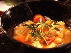 Rimmad torsk med buljongkokta grönsaker   Recept.nu