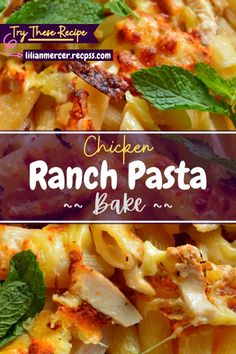 Chicken Ranch Pasta Bake. which is made by the owners of this restaurant, is a traditional Italian pasta dish. #CrockPotRecipes #CookingRecipes #HealthyRecipes #BaconRecipesForDinner #PastaRecipesCrockpot #MeatRecipes #GoodEasyDinnerRecipes #EasyBaconRecipes #HealthyPastas