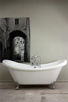 Vintage Double Slipper Clawfoot Free Standing Bath Tub