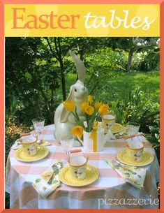 Easter Table Ideas and recipe for sweet potato balls (wrapped around a marshmallow)