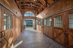 The flooring in this stable is nicer than the floors in my house.