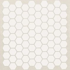 American Olean Satinglo Hex 10-Pack Ice White Honeycomb Mosaic Ceramic Floor and Wall Tile