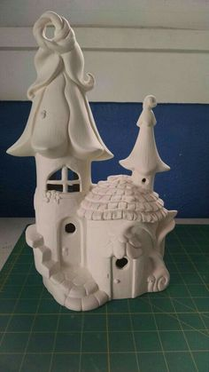 Elf or Fairy House and home unpainted ceramic bisque ready to paint DIY Clay Pot Crafts, Diy Clay, Diy And Crafts, Clay Fairy House, Fairy Houses, Garden Houses, Bottle House, Pottery Houses, Diy Y Manualidades