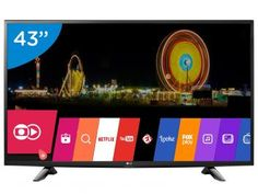 "Confira no #MagazineBrasilcompleto:  Smart TV LED 43"" LG Full HD 43LH5700 - Conversor Digital Wi-Fi 2 HDMI 1 USB"
