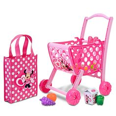 Minnie Mouse Shopping Cart with Accessories