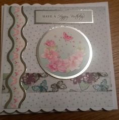 Hunkydory flutterby card