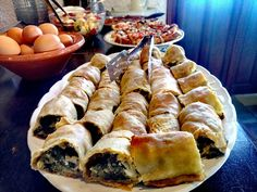 Traditional spinach pie  at Vagia Hotel... Tradition kept alive.