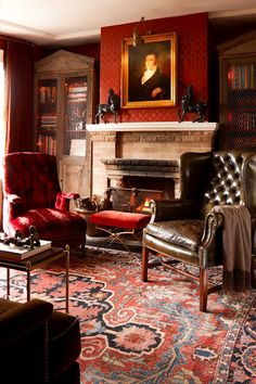 1000 Images About English Leather Chairs On Pinterest