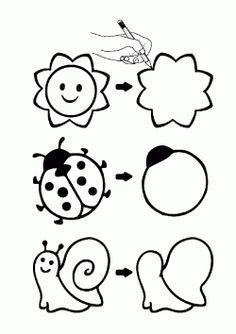 printables for kids Creative Activities For Kids, Toddler Learning Activities, Math For Kids, Kids Learning, Nursery Rhymes Preschool, Free Preschool, Preschool Activities, Art Worksheets, Kindergarten Math Worksheets