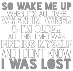 """Wake Me Up,"" Avicii lyrics   written by Tim Bergling Aloe Blacc Mike Einziger"