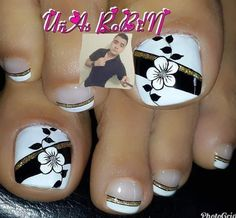 Toe Nail Art, Toe Nails, Pretty Hands, Toe Nail Designs, Manicure And Pedicure, Tattoos, Lily, Pretty Pedicures, Elegant Nails