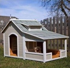 DIY Dog Houses – Dog House Plans – Doodles are really inside type dogs but that does not mean they don't love also spending time outside and there is nothing better to a dog then a nice deck with a fancy dog house to call HOME! A nice place to rest, cool off while playing or …