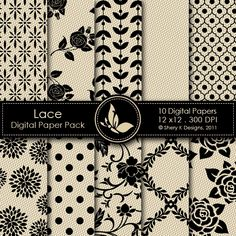 *This listing is for 10 printable High Quality Digital papers.  *Each paper measures 12 x 12 inch, 300 DPI.  *The files are in JPEG format.  *These papers can be printed on 11 x 8.5 inch size paper, and by any inkjet or laser printers.  *Great for scrapbooking, making cards, invitations, tags and photographers.  *The files should not be shared or sold.