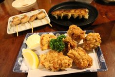 Karaage (fried chicken) is another of our favourites. Great with mayonnaise!