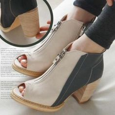 Buy 'Reneve – Zip-Front Open-Toe Ankle Boots ' with Free International Shipping at YesStyle.com. Browse and shop for thousands of Asian fashion items from South Korea and more!