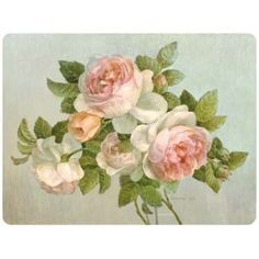These Pimpernel place mats feature the Antique Rose motif.  Each di...