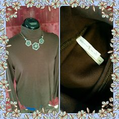 "Brown Moc Turtleneck Brown long sleeve moc turtleneck. 100% cotton. Bust measures 20"" across. Good pre-loved condition. White Stag Tops"