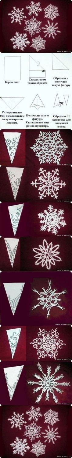 Los copos de nieve de bricolaje de papel de Sirkka