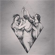 Trindade da lua Formado pelas deusas ou potencias da Lua, sendo estas: Ártemis, Selena e Hécate