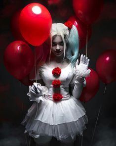 Christina Fink- Pennywise/Harley Quinn Crossover