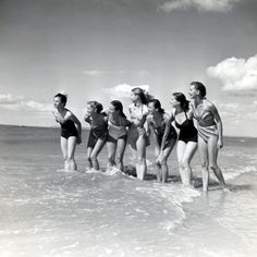 Marquis De Cuevas Company on the Beach at Deauville: 7 Girls, 7 Nationalities
