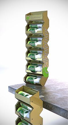 Appletiser, Parasite unit, Concept, POS, POP. Point of sale. Point of purchase.Gravity Feed. Designed by Lance Eggersglusz.