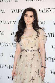 Fan Bingbing in Valentino Spring 2015 in Hong Kong on February 5, 2015
