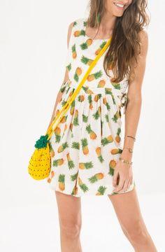 Resultado de imagem para vestidos com estampas de abacaxi 2016