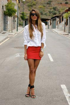 faldas con colores fuertes