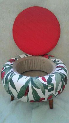 Banquinho reciclado em pneu Tire Furniture, Diy Furniture Decor, Repurposed Furniture, Furniture Projects, Furniture Makeover, Diy Projects, Upcycled Home Decor, Diy Home Decor, Tire Craft