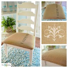 Use painters cloth?? Coffee Sack Repurpose: diy upholstery chair makeover project tutorial.