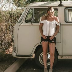 For the Love of All Things German and Air Cooled Volkswagen Bus Camper, T3 Vw, Trucks And Girls, Car Girls, Combi Ww, Volkswagen Minibus, Kdf Wagen, Bus Girl, Chevy