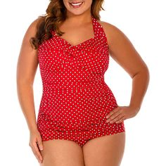 d57755ccb3c Catalina - Suddenly Slim by Catalina Women s Plus-Size Slimming Shirred  Halter One-Piece Swimsuit - Walmart.com