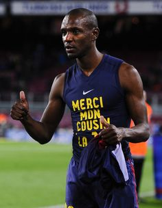 Eric Abidal, he's fought cancer twice and beat it both times, that's why he wore #22 at Barcelona