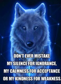 Don't ever mistake my silence for ignorance...
