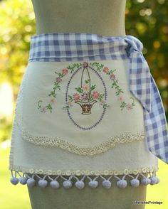Vintage linens become cute aprons!!!