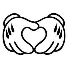 Mickey Mouse Heart from Hand Mini Friend Cartoons by BVStickers